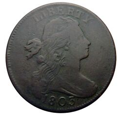 Large Cent/penny 1803 Sheldon 261 Die Cracked Obverse Mid Grade