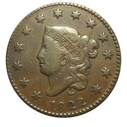 Large Cent/penny 1822 Newcomb 6 High Grade Choice
