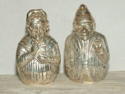 Novelty Puppet Show Silver Plated Punch And Judy Salt And Pepper Shakers