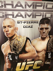 Rare Ufc 137 V1 And V2 Cancelled Posters, Gsp, Nick Diaz, Carlos Condit, Bj Penn