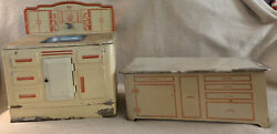 Vintage Wolverine Toy Litho Sink And Cabinet Hoosier Base Made In The Usa