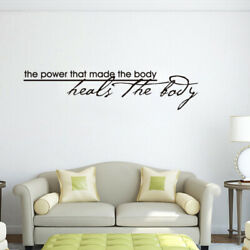 1PC Non toxic Removable The Power That Made The Body Heals The Body Wall Decal