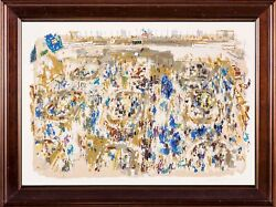 Leroy Neiman Stock Market Limited Signed Original Serigrap All Offers Considered