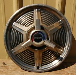 One 1 Oem 1964.5 1965 Ford Mustang 14 Spinner Knock Off Type Hubcap