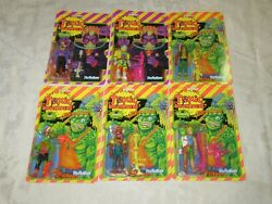 Super7 Reaction Figures Toxic Crusaders Troma Cartoon Complete Lot Set Of 6