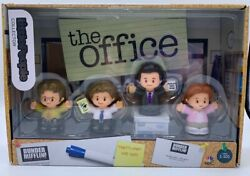 THE OFFICE Fisher Price Little People Jim Pam Dwight Michael Set Of 4. In Hand $49.99