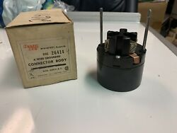 New Arrow Hart 26414 Power-lock Connector Body Only 60a 600v 4 Wire 3 Pole