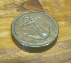 Old Brass Nautical Anchor Paperweight Impressed 1+ Lb Decorative Arts Ship Boat