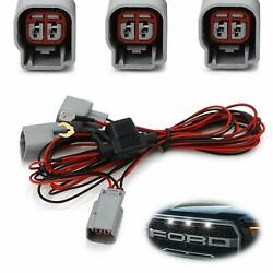 Led Front Grille Marker Light Daylight Drl Enable Wiring Harness For Ford Raptor