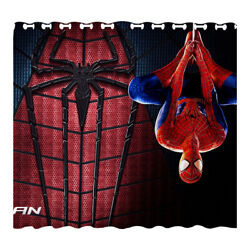 Spider-man Blackout Window Curtain 2 Panel Living Room Bedroom Curtains Drapes