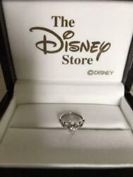 Disney Official Limited 18 K White Gold Natural Diamond Ring No. 9 Genuine F/s
