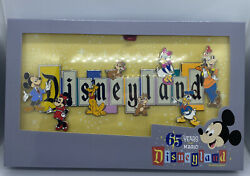 Disneyland Park 65th Anniversary Marquee Boxed Jumbo Pin Limit Ed 1000 Sold Out