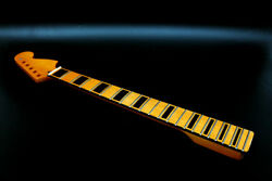 Electric Guitar Neck 22fret 25.5inch Maple wood Fretboard Yellow Painting Block $64.86