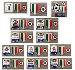 2015-16-17-18-19 Juventus Serie A And Scudetto And Coppa Italia Badge Patch Set
