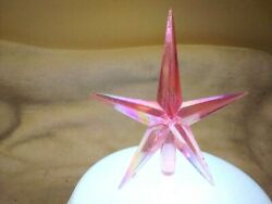 Large Lt. Pink Iridescent Aurora Star for Ceramic Christmas Tree Topper $4.99