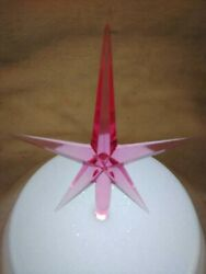 Pink Modern Large Star for Ceramic Christmas Tree Topper $2.99