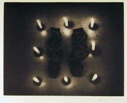 Les Levine Untitled From The Candlelight Series Photo-etching Signed And Numb