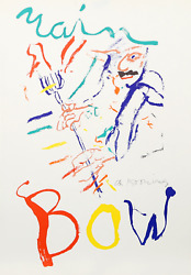 Willem De Kooning, Rainbow Thelonious Monk, Devil At The Keyboard, Lithograph O