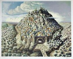 Nahum Gilboa, City Of David, Lithograph, Signed And Numbered In Pencil