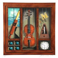James Carter, Music Box Violin, Screenprint, Signed And Numbered In Pencil