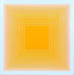 Richard Anuszkiewicz, Orange On Blue Square From Volumes Variable Multiple, Scr