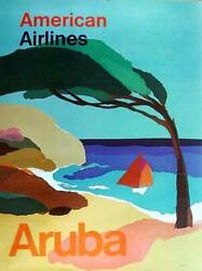 Travel Poster American Airlines - Aruba Poster