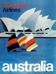 Travel Poster American Airlines - Australia Sydney Opera House Travel Poster
