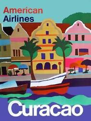 Travel Poster American Airlines - Curacao Village Poster
