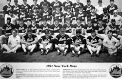 Unknown Artist 1981 New York Mets Team Reproduction Photograph