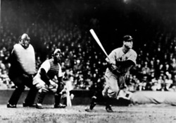 Unknown Artist Lou Gehrig Gets A Hit Yankees Reproduction Photograph
