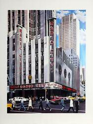 Ken Keeley, Radio City, Screenprint, Signed And Numbered In Pencil