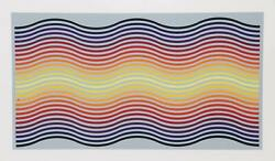 Jurgen Peters Rainbow Waves Screenprint Signed And Numbered In Pencil