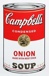 Andy Warhol, Campbell's Soup Can Onion, Screenprint, Stamped Verso By Sunday B.