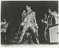Unknown Artist Elvis Singing With Band Reproduction Photograph