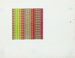 David Roth Untitled I Acrylic Painting On Graph Paper Signed And Dated