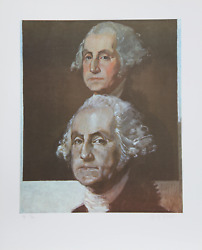 George Deem George Washington George Washington Lithograph Signed And Number