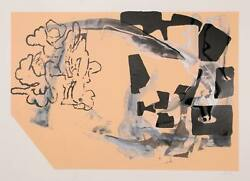 Stephen A. Davis Untitled 8 Mixed Media On Paper Signed And Dated In Pencil