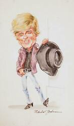 Marshall Goodman, Robert Redford, Watercolor On Paper, Signed