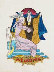 Marshall Goodman Untitled - Vampire Welcome Watercolor On Paper