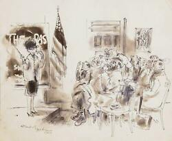 Marshall Goodman Classroom Watercolor On Paper Signed