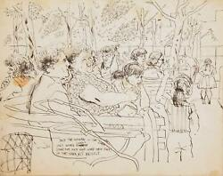Marshall Goodman Mothers In The Park I Ink On Paper