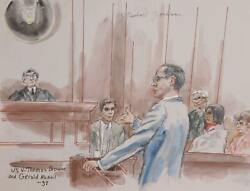 Marshall Goodman Us V. Thomas Browne And Gerald Mcneil Watercolor On Paper