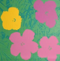 Andy Warhol Flowers 7 Screenprint Stamped In Blue Verso By Sunday B. Morning