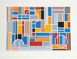 Gisela Beker Labyrinth Screenprint Signed And Numbered In Pencil