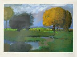 Chase Chen Chenoff Golden Tree Lithograph Signed In Pencil L.r.
