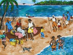 Isiah Nicholas In The Caribbean The Fisherman Still Sell Their Big Catch On The