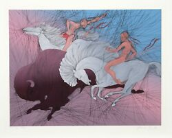 Guillaume Azoulay Twilight Screenprint Signed And Numbered In Pencil
