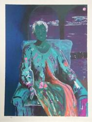 Sarah Churchill Seated Woman Lithograph Signed And Numbered In Pencil