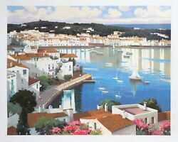 Ramon Pujol Cadaques On The Boardwalk Screenprint Signed And Numbered In Penc