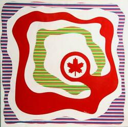 Max Epstein Air Canada Acrylic On Canvas Signed Lower Center